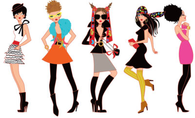 characters illustration for fashion sketch
