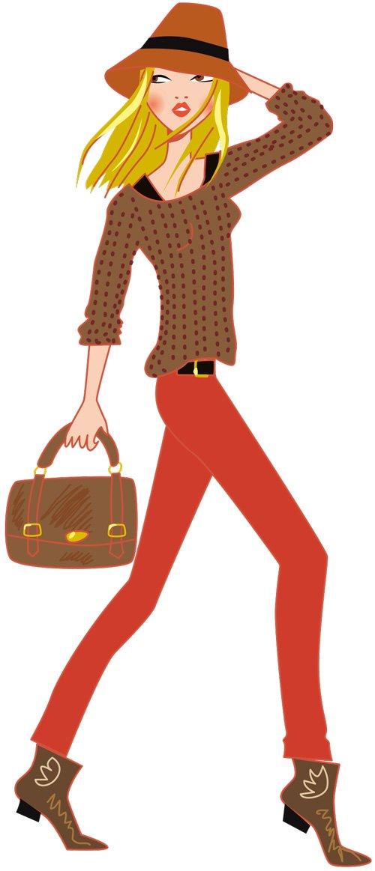 femme en pantalon rouge