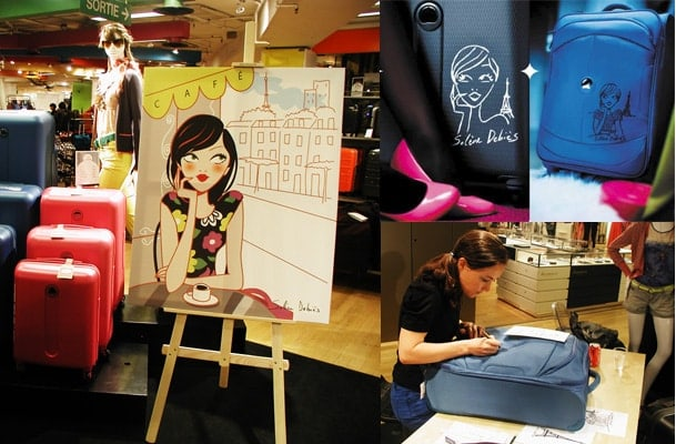 customisation de bagages par un illustrateur