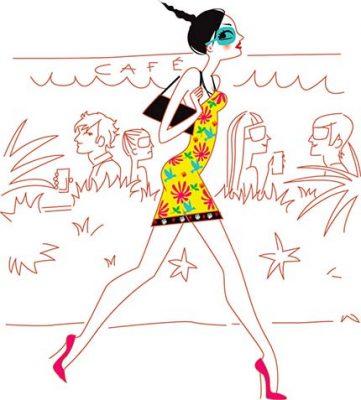 illustrateur paris femme féminine