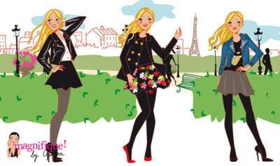 illustration de mode: la jupe patineuse