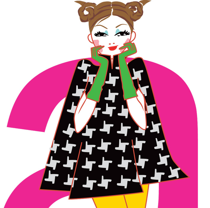 Illustration pour l'horoscope du magazine ELLE India