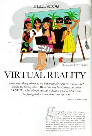 illustrateur magazine réseaux sociaux