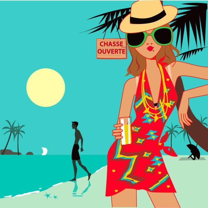illustration-mer-plage-femme