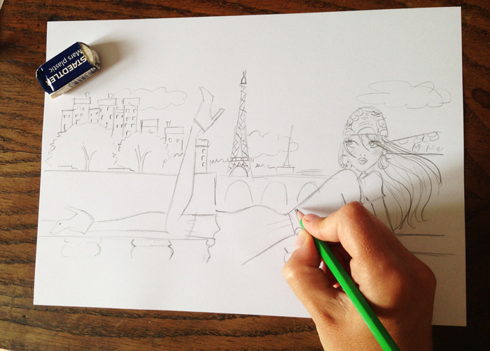 sketch-illustration-Paris