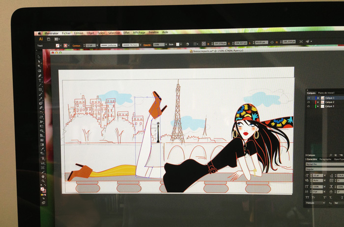 making-illustration-woman-Paris