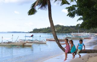 plage famille philippines