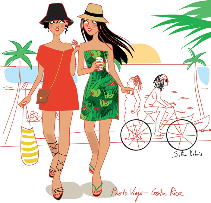 femmes en voyage par illustrateur influenceur