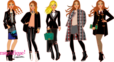illustrations de mode hiver
