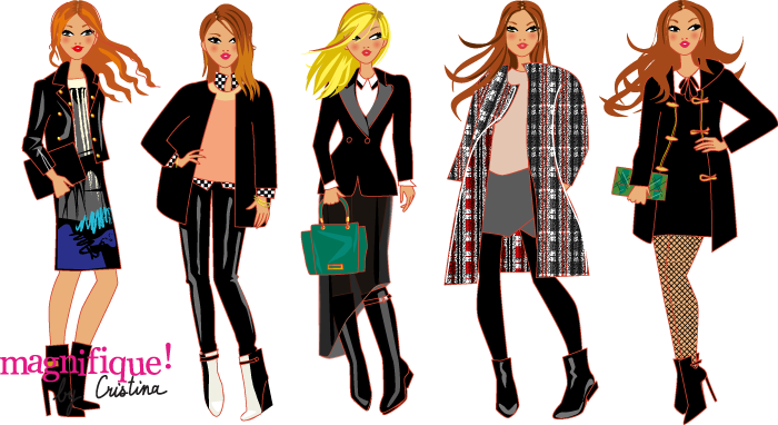 illustrations de mode hiver