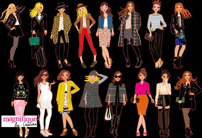 dessin de femmes mode