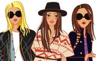 illustration de personnages de mode, des femmes