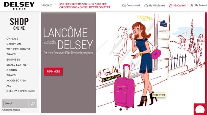 Illustration pour Delsey et Lancôme