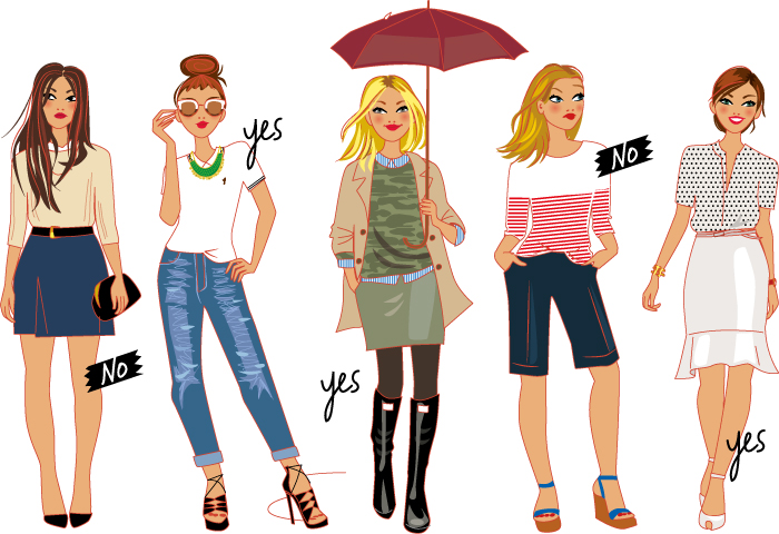 fashion illustration for a TV show