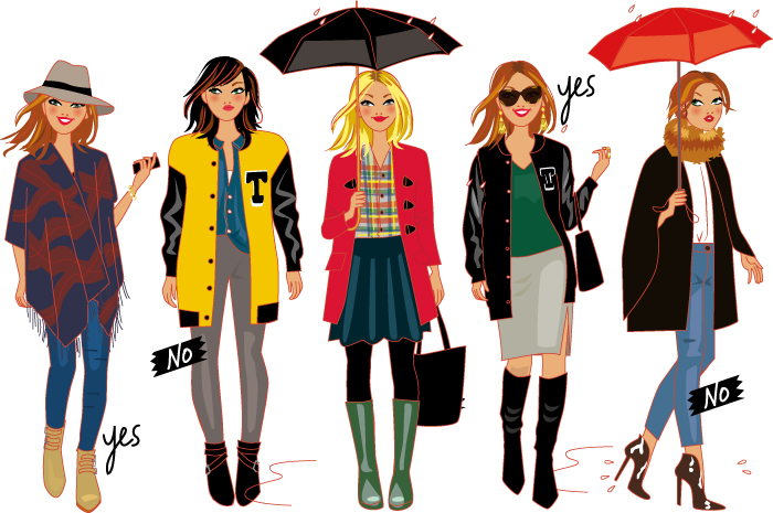 fashion illustrations for the stylist Cristna Cordula's TV show
