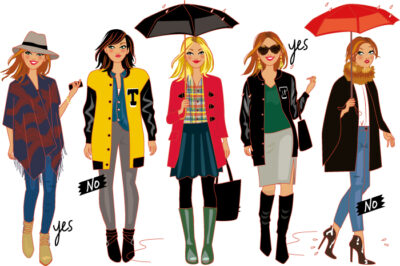 fashion sketches, female characters