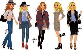 fashion illustrations of women