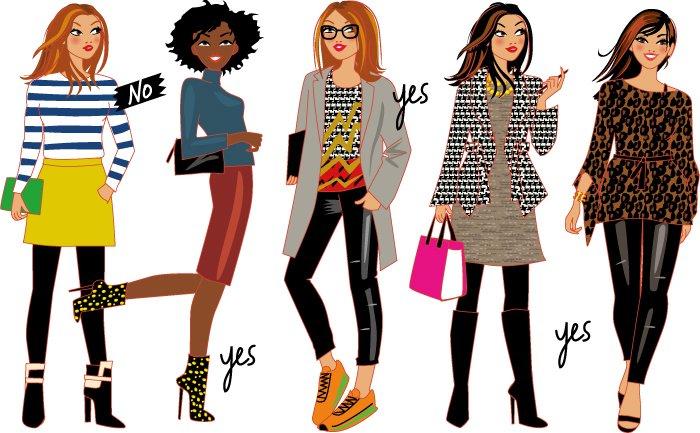 illustrations de femmes mode pour Cristina Cordula