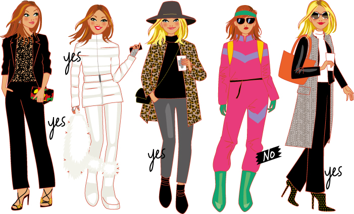 fashion illustrations for a tv show