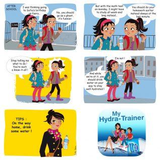 Application mobile Hydrawaters - Nestlé : les enfants et l'hydratation