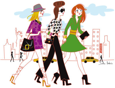 illustration de copines à New York