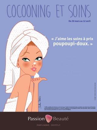 beauty advertising illustration