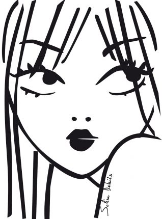 beauty illustration: a woman face