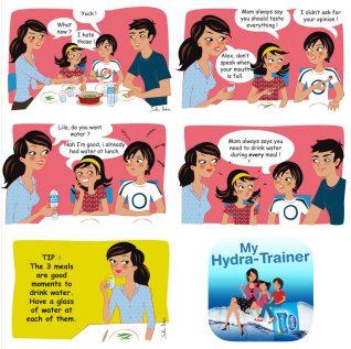 brand comics for Nestle app