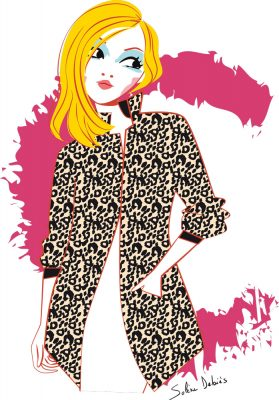 fashion illustration woman graphic