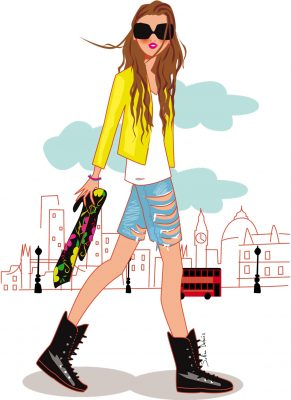 fashion illustration in London