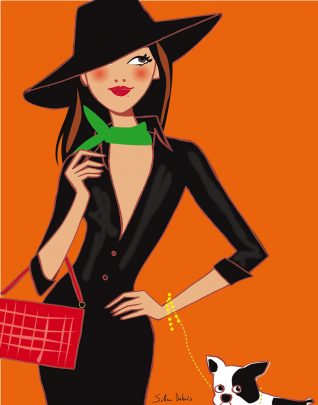 "illustration for the book ""Be stylish"" of the indian stylist Pernia Qureshi"