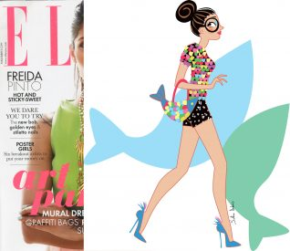 Editorial illustrator ELLE magazine heroine