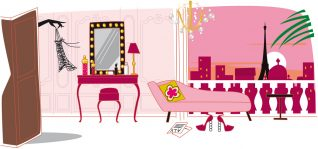 illustratrice décoration boudoir paris
