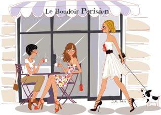 illustration personnages Boudoir Parisien