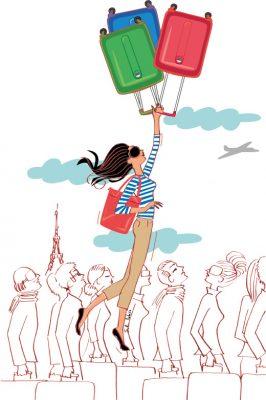 illustration suisse dessin bagages voyage