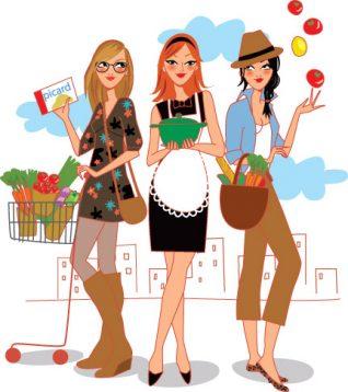 illustration livre cuisine gastronomie