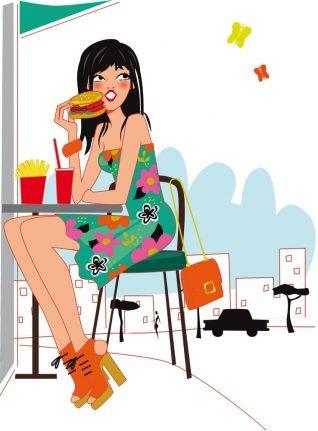illustration santé - junkfood