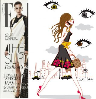 illustration for ELLE magazine India