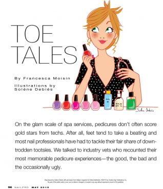 dessin ongles femme magazine