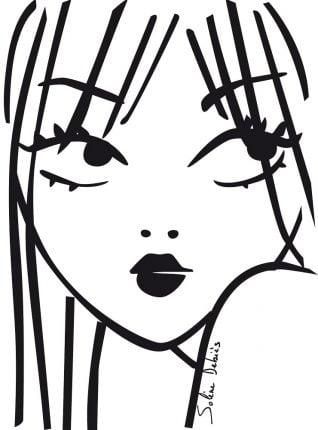 visage féminin