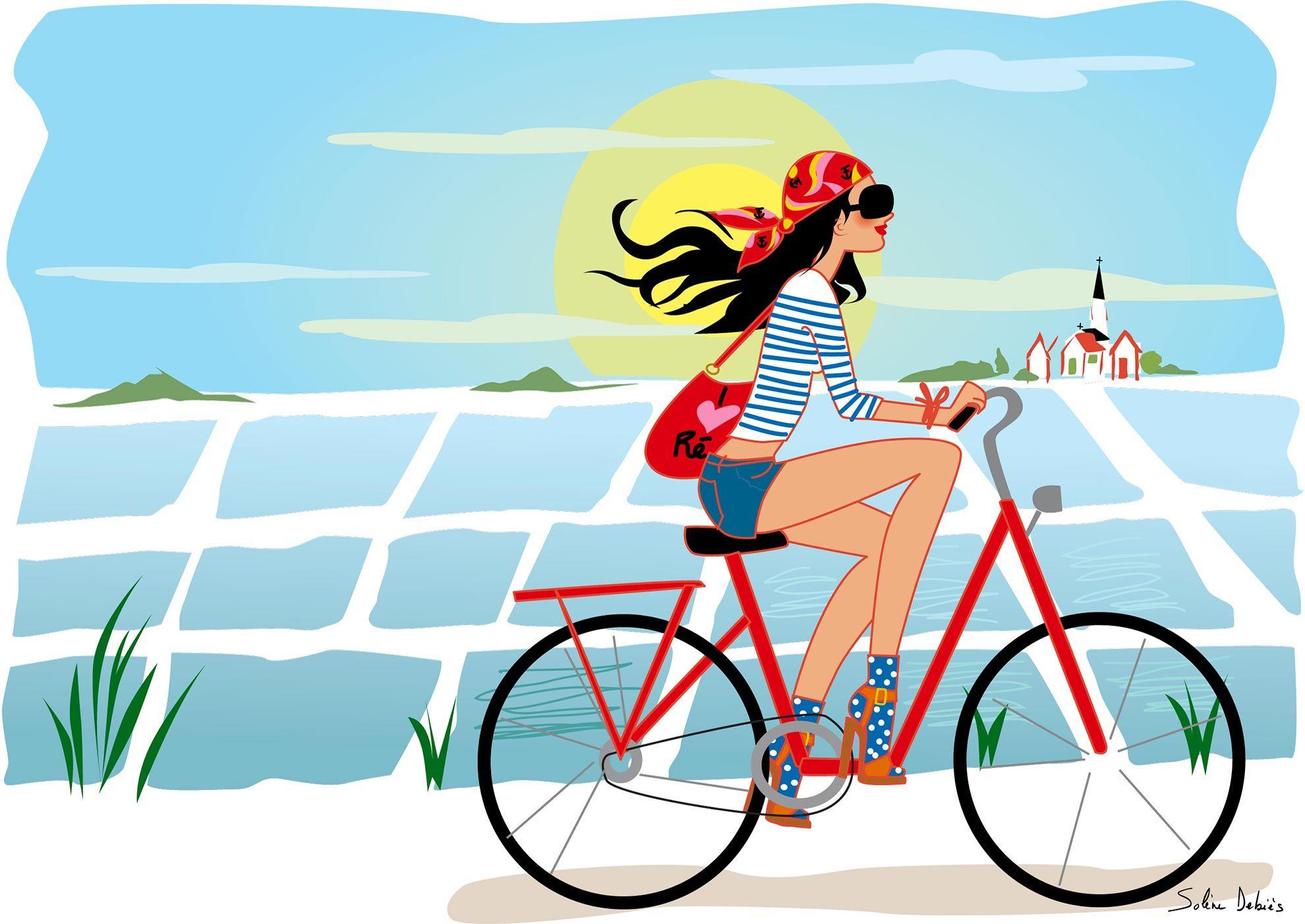 vélo femme île de Ré