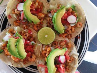 Voyage dans le Yucatàn, Mexique, tacos de crevettes