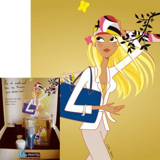 illustratrice femme cheveux