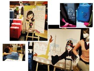 Customisation de bagages Delsey - Galeries Lafayette Paris