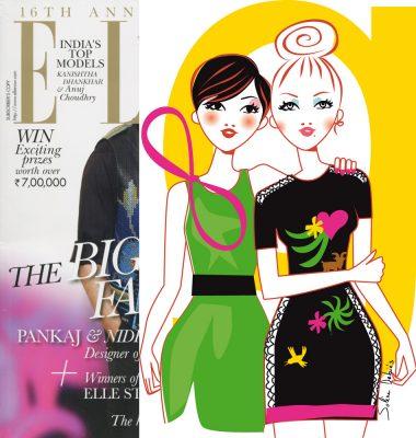 fashion illustration for the magazine ELLE India