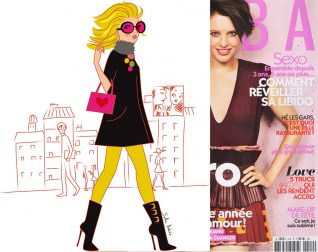 fashion women cartoonist