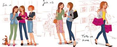 illustration femmes cuisine