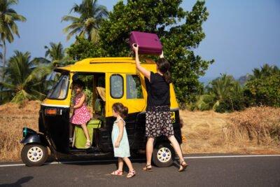 influencer voyage Inde Rickshaw