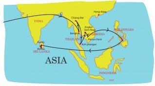 voyage en Asie de l'illustratrice Solène Debiès