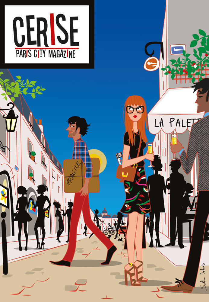 Parisian illustrator cover magazine romance